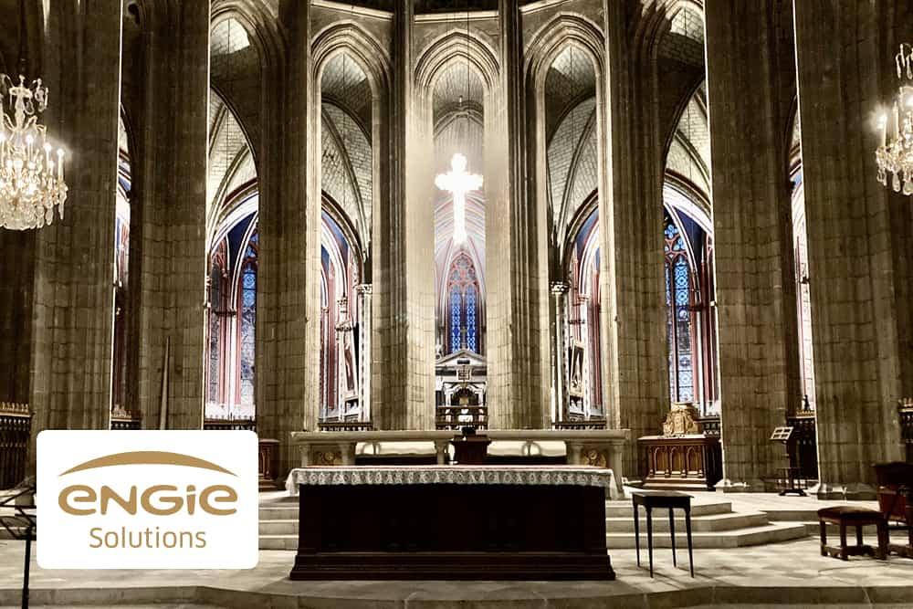 Inéo Centre met en lumière la Cathédrale Sainte Croix d'Orléans